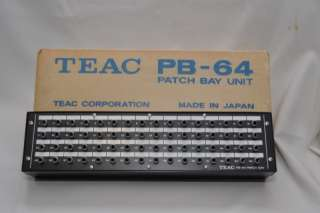 Vintage TEAC PB 64 Reel to Reel PB64 Patch Bay Unit