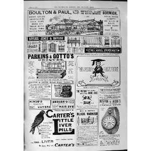 1901 Advertisement Boulton Paul Carters Pills Mappin