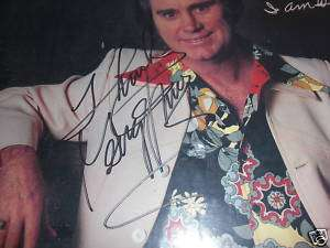 GEORGE JONES SIGNED IN PERSON ALBUM COVER TAMMY WYNETTE