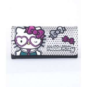 Hello Kitty Heart Glasses Winking Trifold Wallet