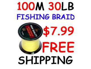 DYNEEMA Fishing Line 100M 30LB Yellow POWER PRO braid