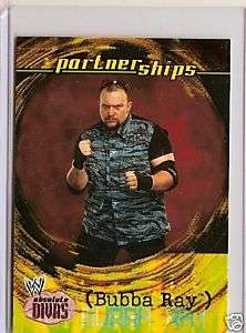 WWE ABSOLUTE DIVAS TRADING CARD BUBBA RAY DUDLEY
