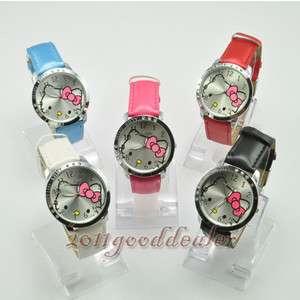 New Nice HelloKitty Ladies Quartz Watch Wristwatch 5 Color