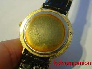 Gold Tone Steel Back Manual Wind Sub second Womens Watch RUNS