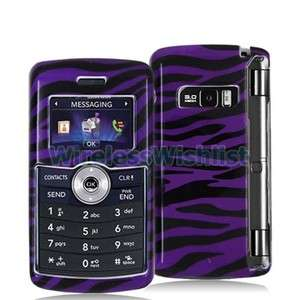 Purple Black Zebra Case Cover for LG Env3 Env 3 VX9200