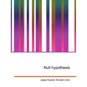 Null hypothesis: Ronald Cohn Jesse Russell:  Books