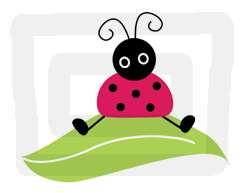 LADYBUG ALPHABET LETTER PINK BLACK WALL STICKERS DECALS