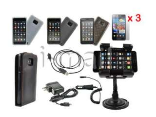 New 11 Accessory Leather Case Car Mount Charger For Samsung Galaxy SII