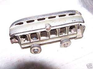 Cast Iron Trolley Car   Iron Wheels
