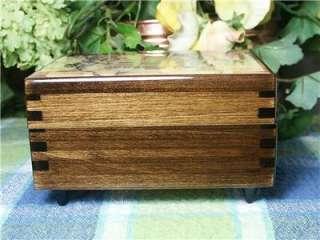 Disney Snow White Wood Music Jewelry box Wishing Well Reuge Swiss