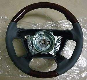 MERCEDES R170 SLK STEERING WHEEL LEATHER WOOD BURL ASH