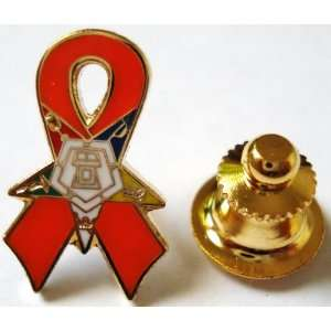 Order of the Eastern Star OES Orange Ribbon Awareness Leukemia Animal