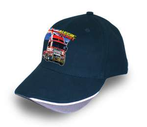 KENWORTH TRUCK K104 CAB OVER NAVY BASEBALL CAP/HAT