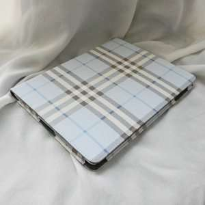 Stand Smart Leather Case Cover (Light Blue/White) for Apple iPad 2