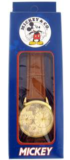 Time Works Mens Mickey Mouse Extra Large Dual Time Disney Quartz