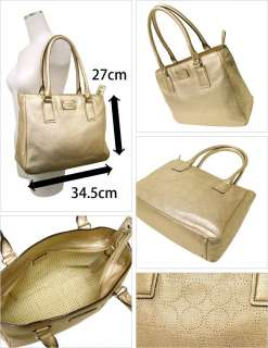 NEW Kate Spade Gold Leather York Street Rue Tote NWT