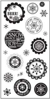 x8 Clear Stamps  WINTER WONDERLAND  #496 020335036048