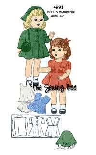 4991 Doll wardrobe pattern 16 Patsy Ann   Shirley