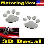 Dog Animal Paw Foot Print Car Window Bumper Body Decal Sticker Emblem