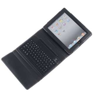 Wireless Bluetooth Keyboard + Leather Case for iPad 2