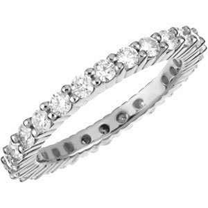 Genuine IceCarats Designer Jewelry Gift 18K White Gold Wedding Band