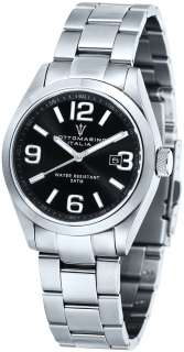 Mens Black Sapphire Crystal Watch Sottomarino SM50110 A