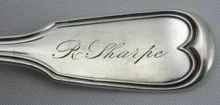 FINE R & W WILSON FIDDLE THREAD COIN SILVER SPOON SHARPE
