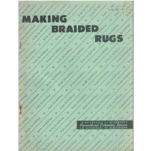 Making Braided Rugs: Agricultural Extension Service: Books