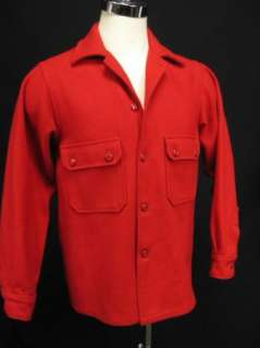 Vintage BSA Boy Scouts of America Red Wool Jacket Coat Mens Small