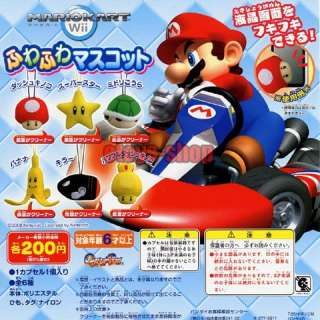 MARIO KART WII Item Screen Clean Plush 1 Gashapon Full
