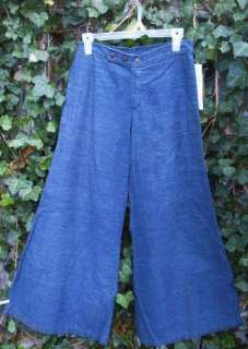 Vintage 70s Wide Leg Hip Hugger Bell Bottom Jeans
