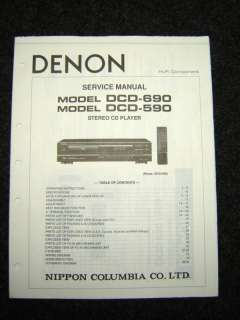 Original Denon DCD 690/590 Service Manual |