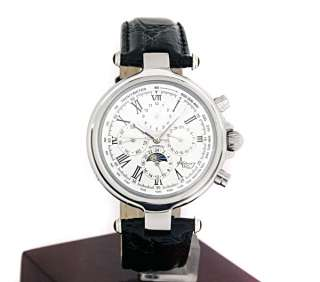 Astbury Automatic Watch Gents Moonphase 24 Hour Silver