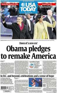 PRESIDENT BARACK OBAMA USA TODAY JANUARY 21 2009 INAUGURATION