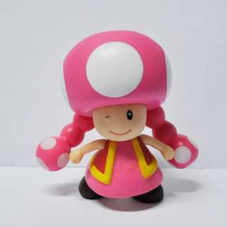 Mario Bros 4 TOADETTE Poseable Action Figure Toy_M7