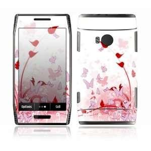 Nokia X7 Decal Skin Sticker   Pink Butterfly Fantasy