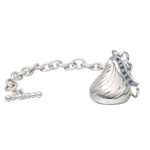 Extra Large 3D Shaped Bracelet with One Hersheys Kiss Charm Jewelry
