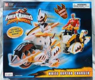 Power Rangers Dino Thunder White Raptor Charger Figure NEW TOY