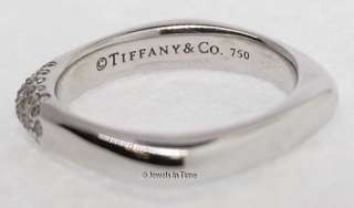 Tiffany & Co. 18k White Gold & Diamond Ring 6.25