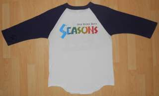 BOYS SEASONS T SHIRT VINTAGE ROCK POP 80S RARE CLASSIC RETRO M
