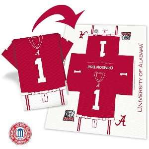 Alabama Crimson Tide Football Jersey 8 Pack Napkins   Set