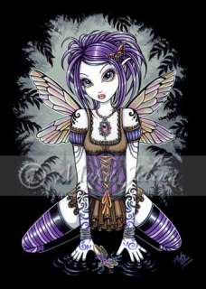 Gothic Dragonfly Fairy Art OOAK ACEO Faery Card Addison