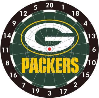 NFL Green Bay Packers Logo Bristle Dart Board   NEW!