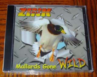 ZINK CALLS MALLARDS GONE WILD DUCK CALL VIDEO CD NEW 810280017052