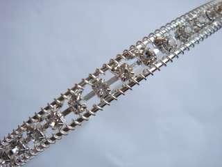 1pcs GORGEOUS SWEET WEDDING BRIDAL CRYSTAL DIAMOND WHITE HAIRBAND