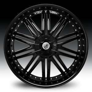 26 Lexani LX 10 Black Wheel SET Fits 5Lug 6Lug RWD Vehicles LEXANI