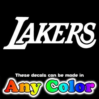 LA Lakers Script Outline 35 Auto Window Sticker Decal