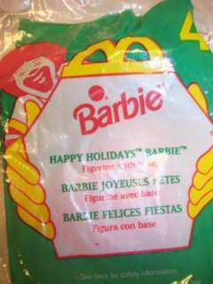 McDonalds Happy Holidays Barbie Happy Meal Toy NEW