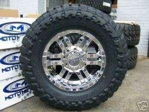 Moto Metal 951 chrome wheels 33 Toyo Open Country MT