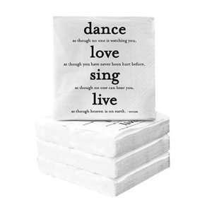 Dance Love Sing   Souza Cocktail Napkins